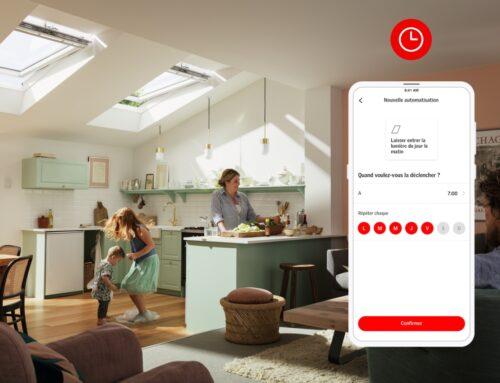 VELUX App Control, la solution connectée pour contrôler simplement son confort intérieur depuis son smartphone  –aération, lumière et sécurité –