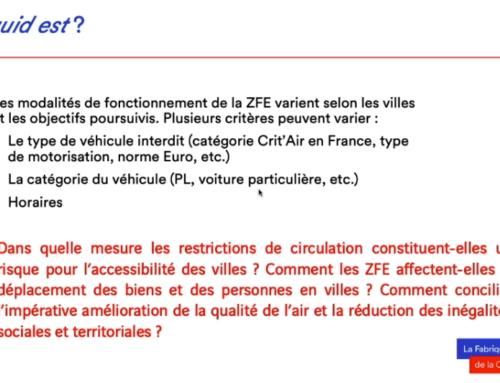 Découvrez la nouvelle note de La Fabrique de la Cité sur les Zones à faibles émissions (ZFE)